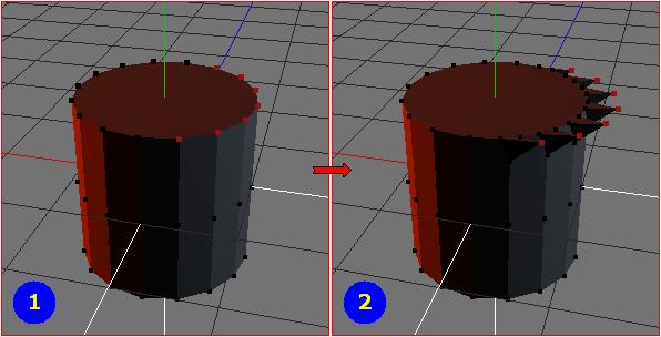 Vertices - Extrude X